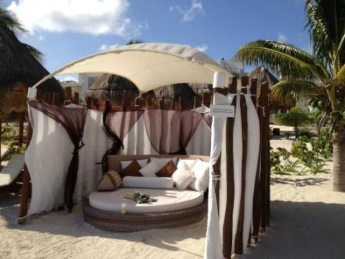 Beloved Playa Mujeres beach cabana