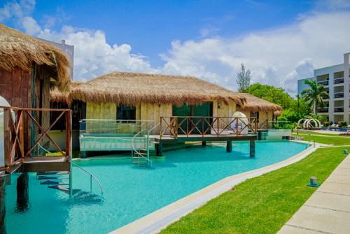 Secrets Silversands Riviera Cancun over the pool honeymoon suite