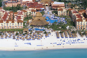 Sandos Playacar aerial view