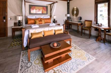 Secrets Silversand over-the-pool cabana honeymoon suite interior