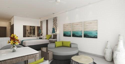New swim-up suite interior