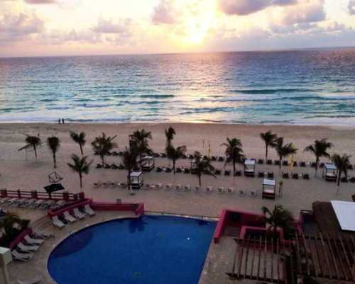 NYX Hotel Cancun pool and beach