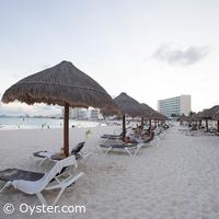 Krystal Grand Punta Cancun beach loungers