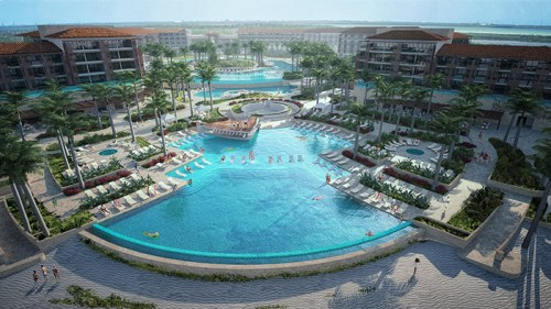 Dreams Playa Mujeres pool overview