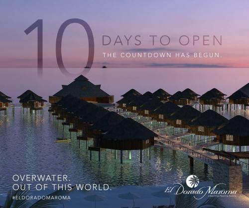 El Dorado Maroma overwater palafitos countdown