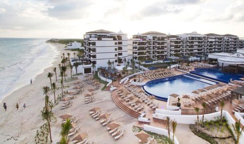 Grand Residences Riviera Cancun aerial view