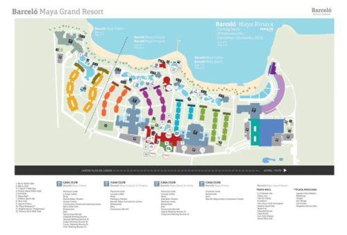 New Barceló Maya Grand Resort Map | allinclusivegal