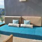 Dreams Playa Mujeres Jr. Suite balcony day bed