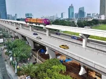 Jakarta Monorail Track Simulation, Indonesia