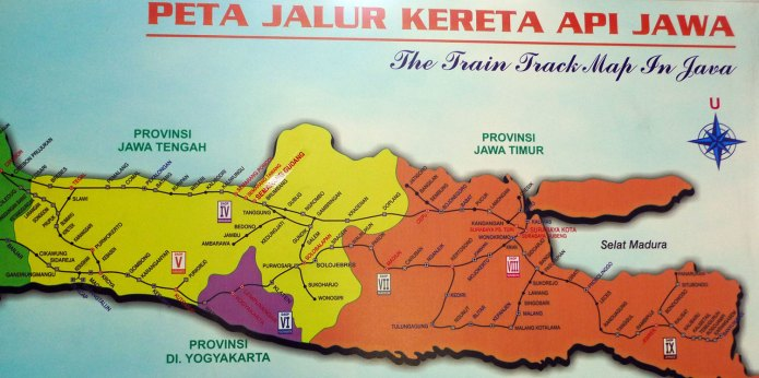 Train Rail Map Timetable And Fare Price Indonesia Travel Guide