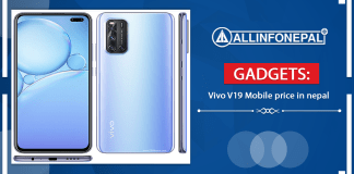 Vivo V19 Mobile price in nepal