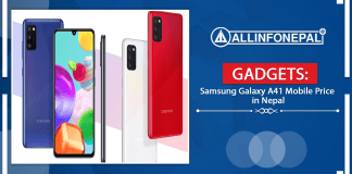 Samsung Galaxy A41 Mobile Price in Nepal