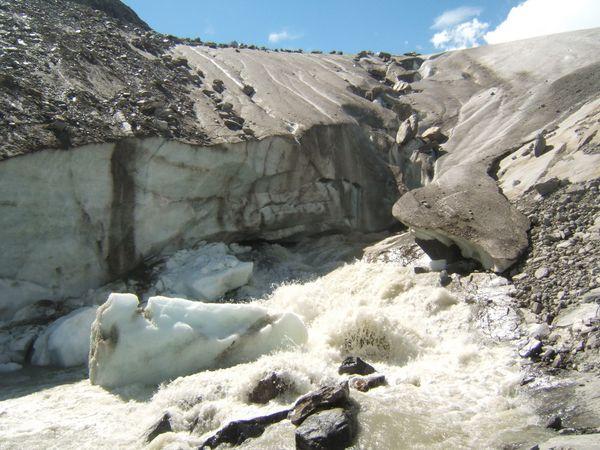 Mouth of the Schlatenkees Glacier near Innergschlöß, Austria