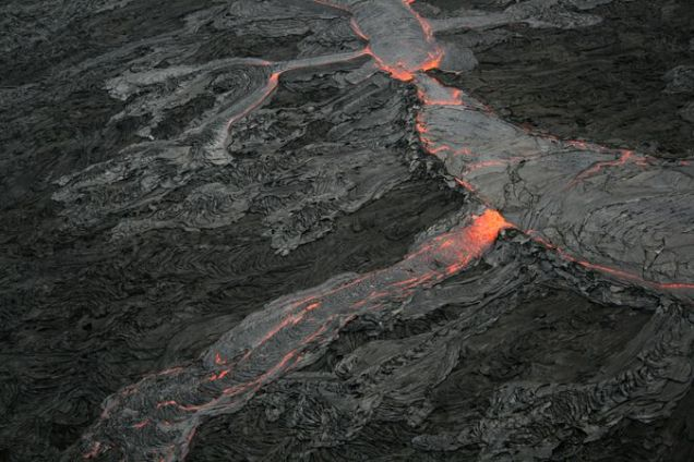 Pāhoehoe lava flow on Hawaii.