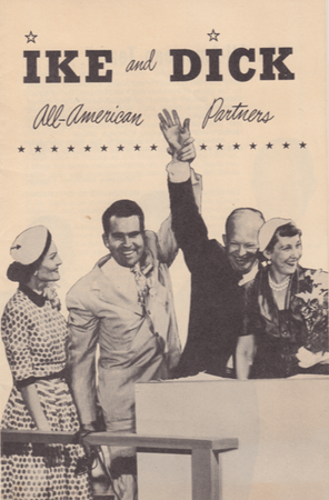 Front cover of literature for the Eisenhower–Nixon campaign