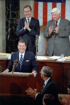 President Reagan Addressing Congress