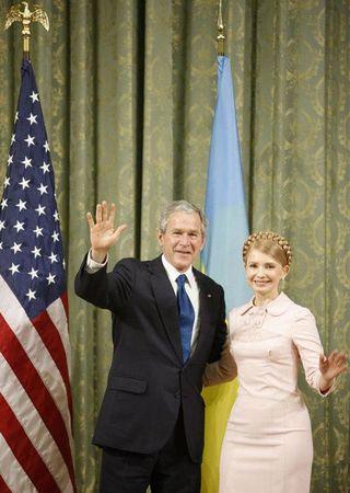 President Bush and Ukrainian Prime MinisterYulia Tymoshenko