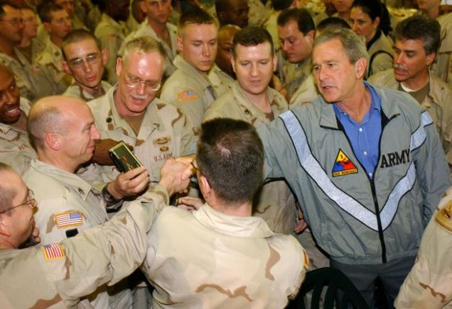 President Bush paying a surprise visit to Baghdad International Airport