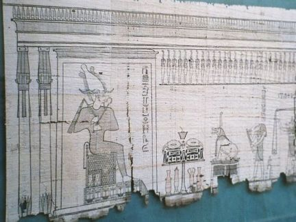 A section of an Egyptian book written on papyrus
