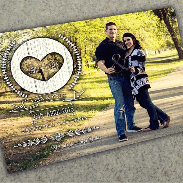 Excited at how these save the date cards turned out! Beautiful photography by Oh Gina! Photography