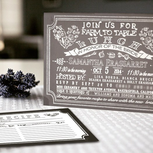 There's something truly delicate and simplistic about chalkboard invitations. Thank you @bordapetite #allintheinvite #chalkboardinvitations #invitation #bridalshowerinvitation