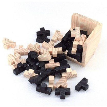 Cube casse-tête en bois