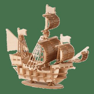 Maquette en bois bateau