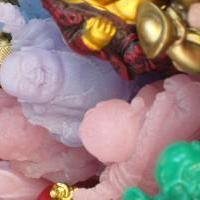pink & purple buddha