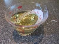 3/4 C vegetable oil.