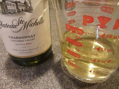 A cup of chardonnay.