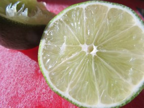 Soy sauce plus the juice of a lime.