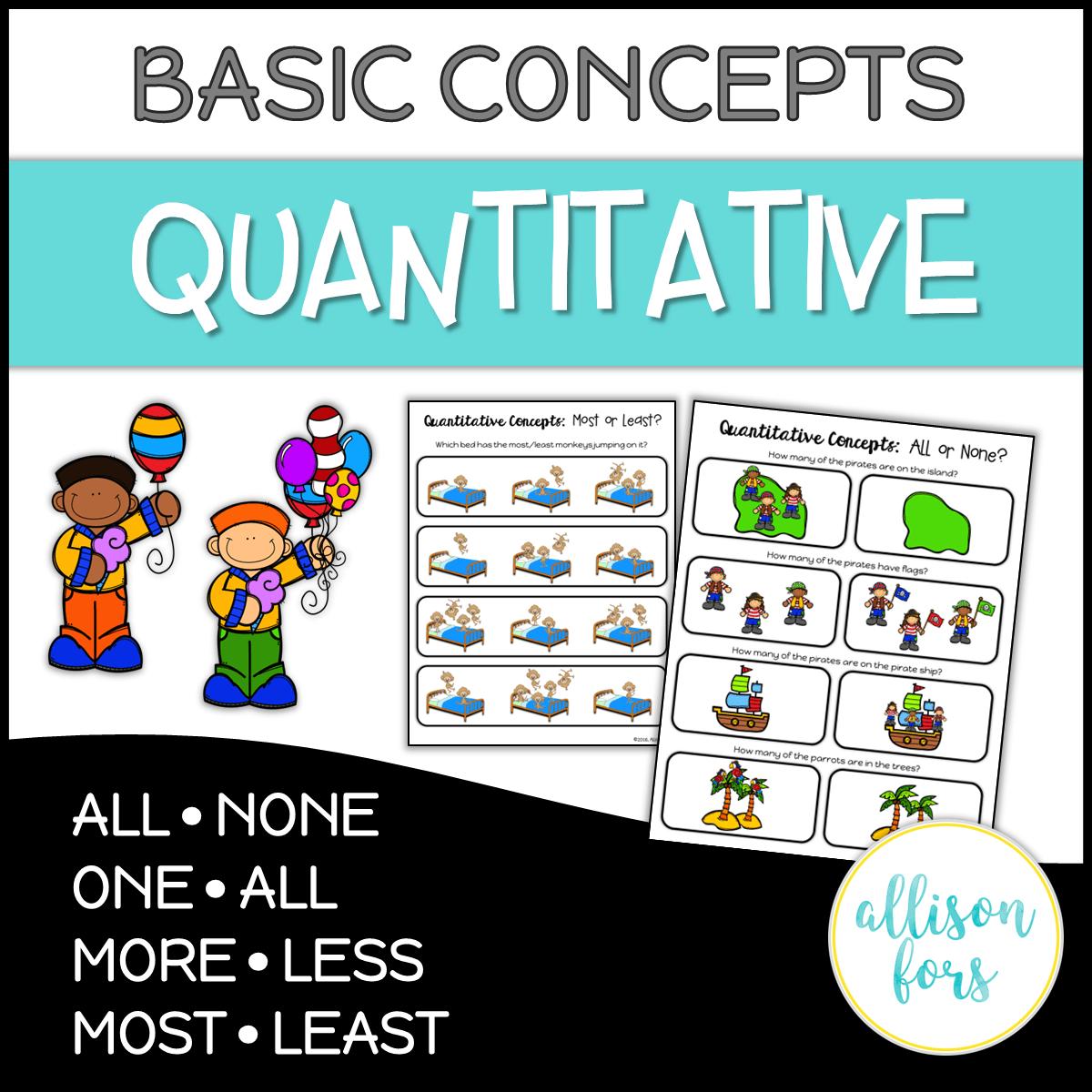 Basic Concepts Quantitative Concepts No Prep