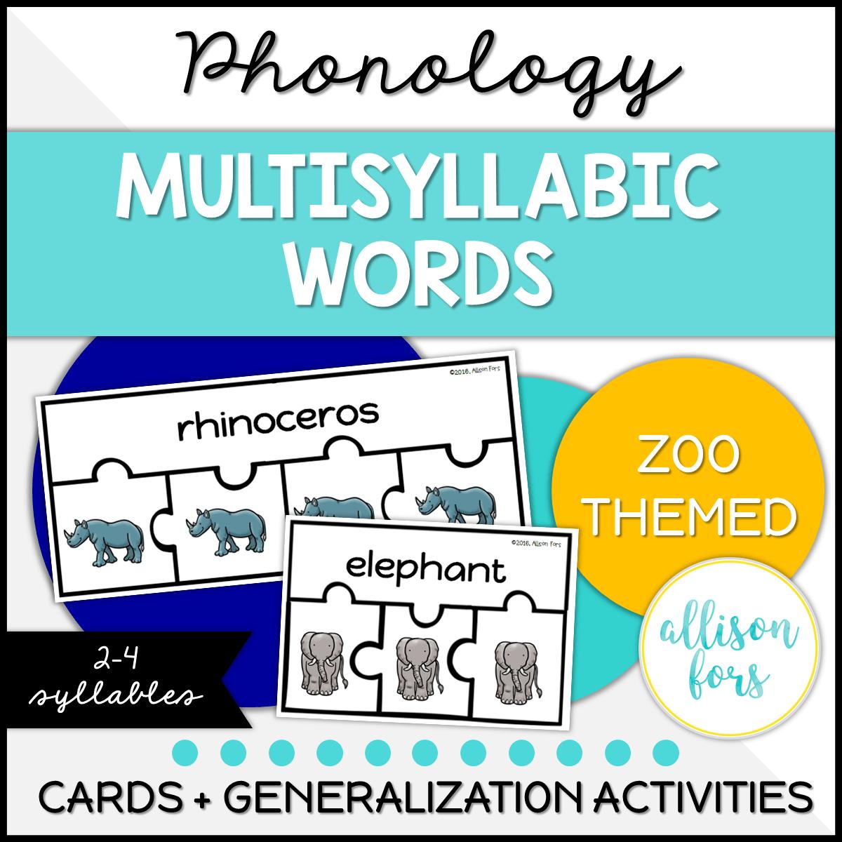 Phonology Multisyllabic Words