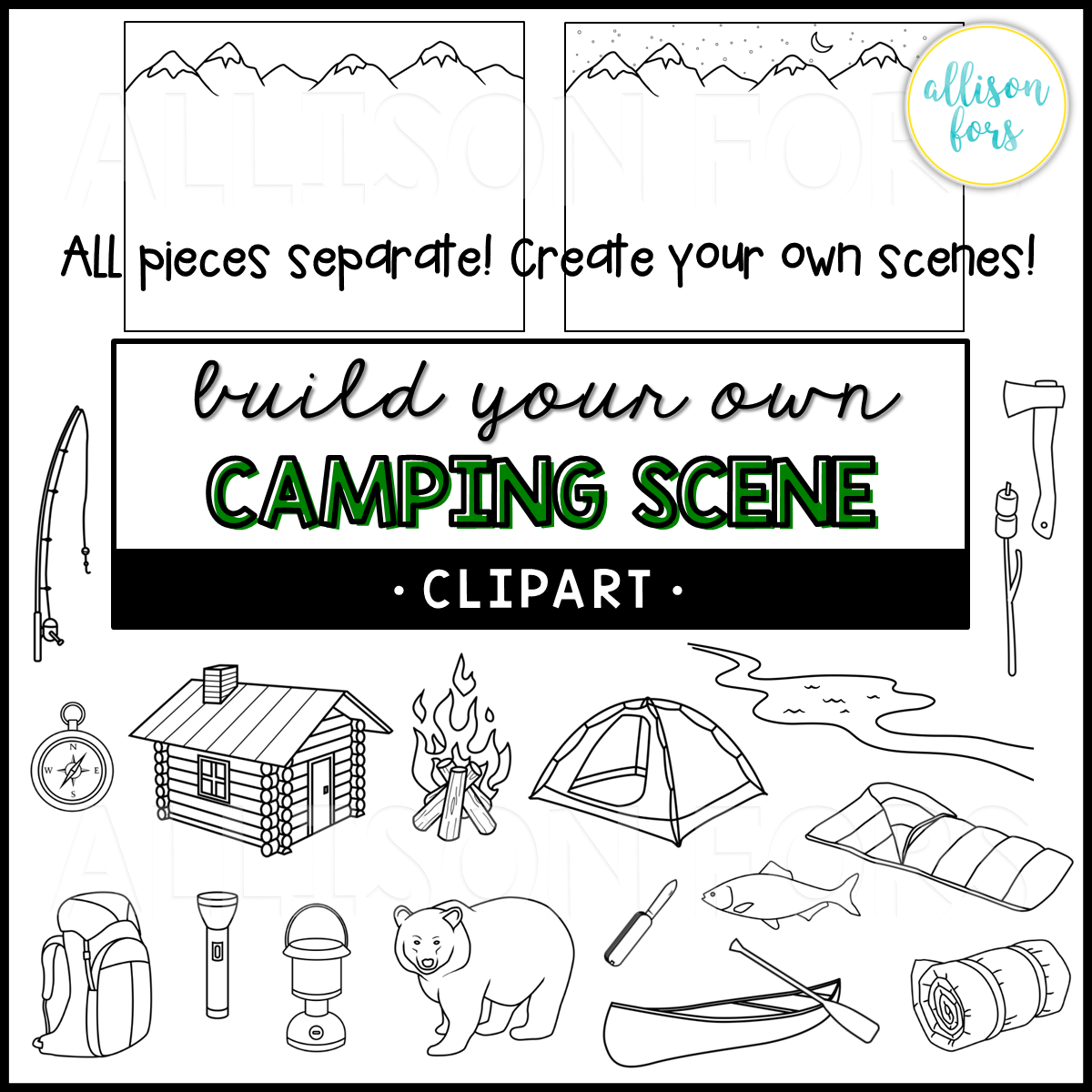 Build Your Own Camping Scene