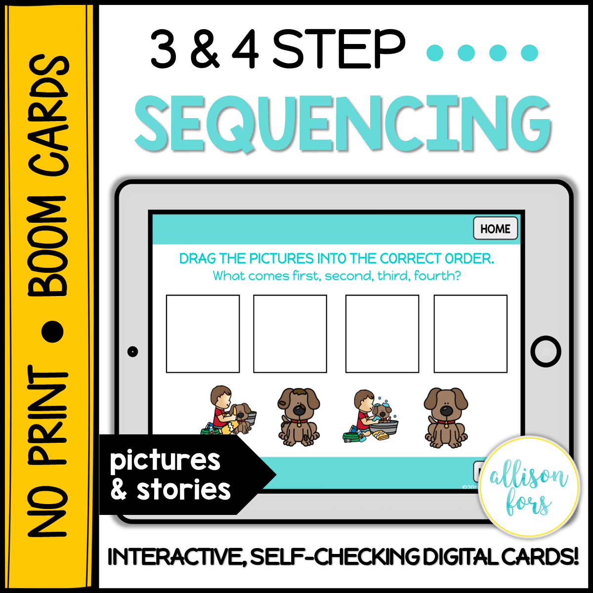 No Print Boom Cards 3 4 Step Sequencing