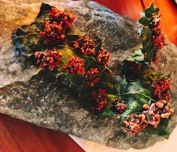 Toasted Kale Leaves