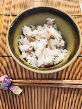Rice dish: Rice with sunchoke and pork