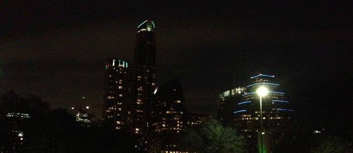 A beautiful, thought limited, view of the Austin skyline.