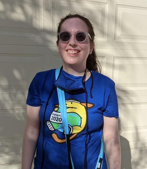 Me in my virtual walk wapuu t-shirt