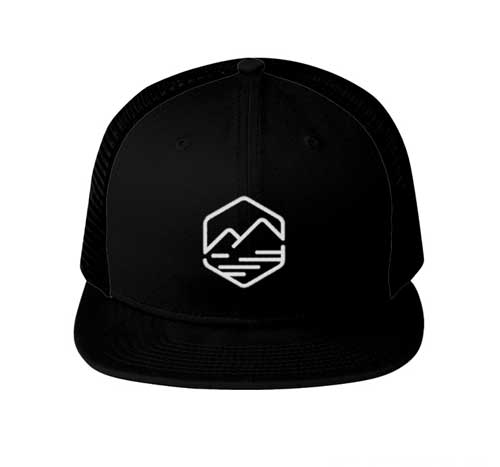 allison outfitters black flat billed hat