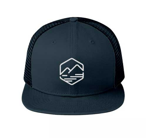 allison outfitters blue flat billed hat