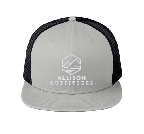 allison outfitters grey flat billed hat
