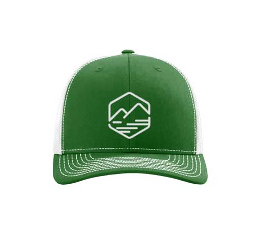 allison outfitters green trucker hat