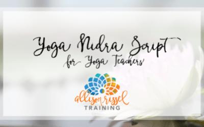 Yoga Nidra Script