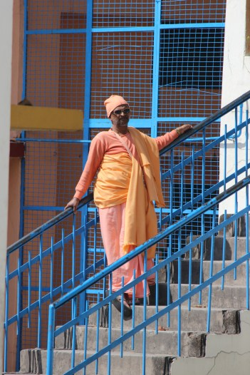 A resident at Divine Life Society in Rishikesh.