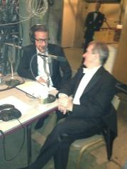 """Christopher Koelsch and James Conlon in mutual admiration: Opening night of """"I Due Foscari"""" at LA Opera (photo by Gail Eichenthal)"""