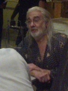 """One more of Placido Domingo being interviewed before the show begins: Opening night of """"I Due Foscari"""" at LA Opera (photo by CK Dexter Haven)"""