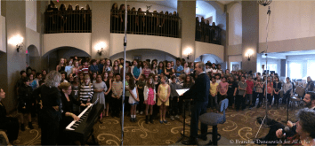 combined choruses in rehearsal 2