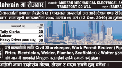 Photo of Attractive Employment Offer In BAHRAIN With High Salary