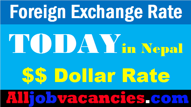 Today Exchange Rate Nepal